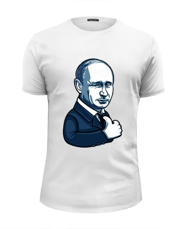 Printio Футболка Wearcraft Premium Slim Fit Путин - like printio путин like