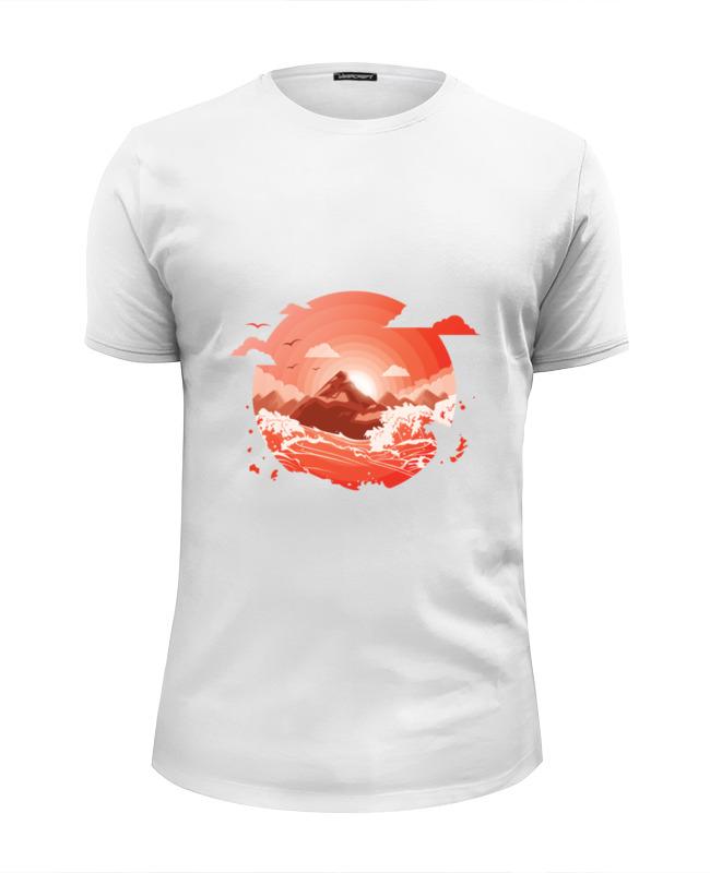 Printio Футболка Wearcraft Premium Slim Fit Красный рассвет над горами