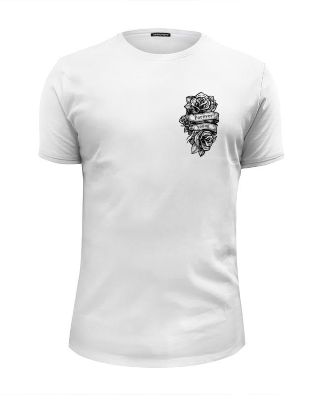 Printio Футболка Wearcraft Premium Slim Fit Forever young ж футболка wearcraft premium slim fit printio lantern т ж