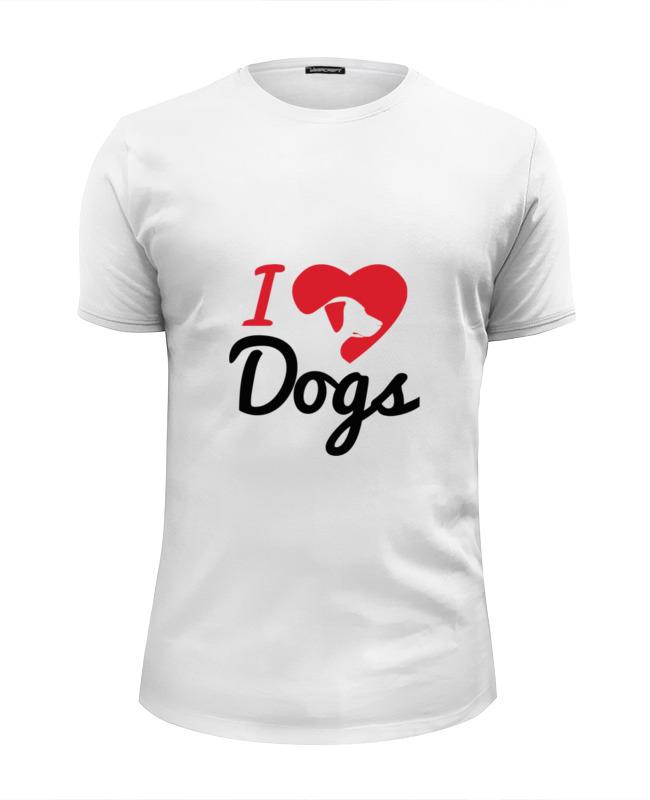 Фото - Printio Футболка Wearcraft Premium Slim Fit Люблю собак printio футболка wearcraft premium люблю собак