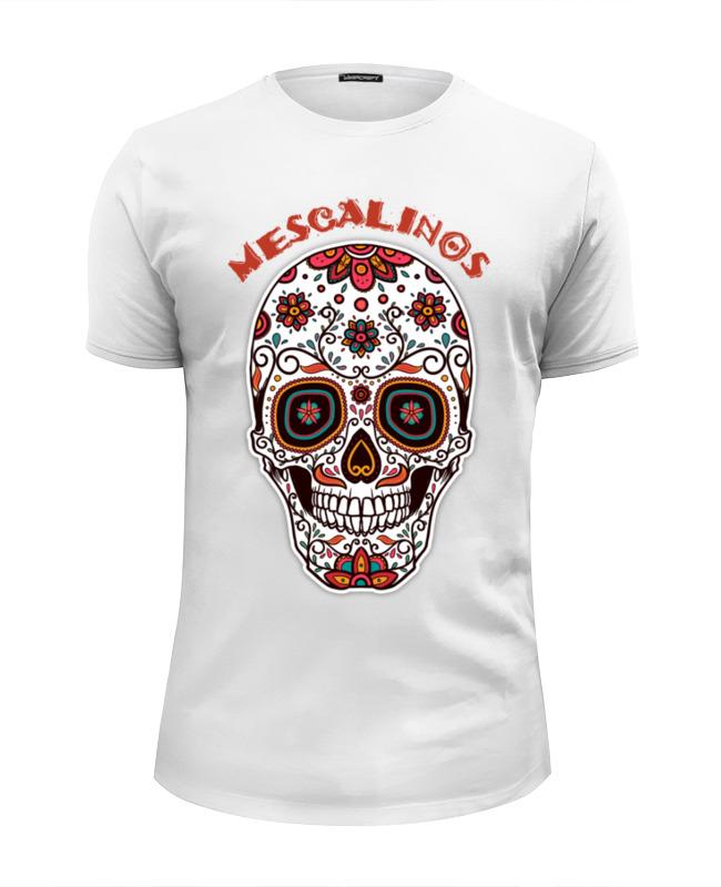 printio череп mescalinos Printio Футболка Wearcraft Premium Slim Fit Череп mescalinos