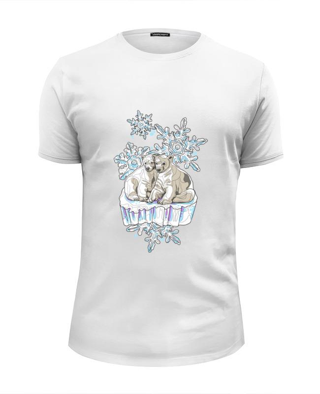 Printio Футболка Wearcraft Premium Slim Fit Белый медведь