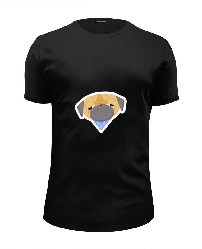 Printio Футболка Wearcraft Premium Slim Fit Печальный мопс printio футболка wearcraft premium slim fit мопс космонавт