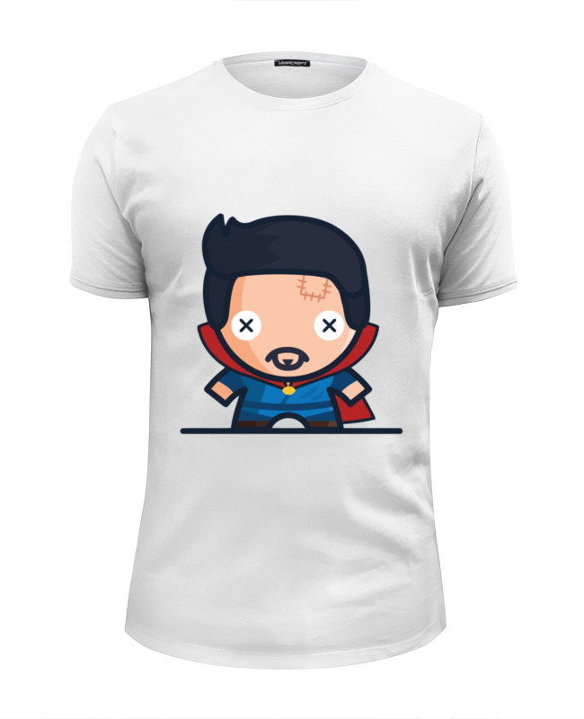 printio футболка wearcraft premium slim fit чумной доктор Printio Футболка Wearcraft Premium Slim Fit Доктор стрэндж