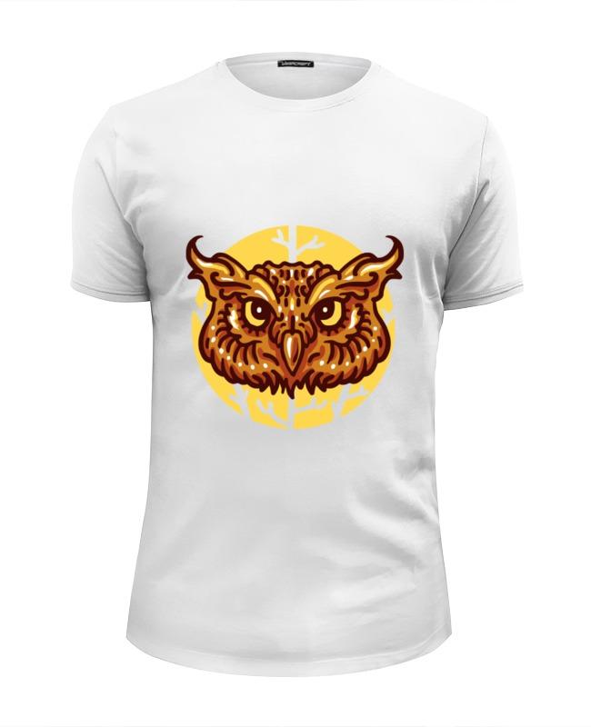 футболка wearcraft premium slim fit printio сказочная сова Printio Футболка Wearcraft Premium Slim Fit Сова (owl)