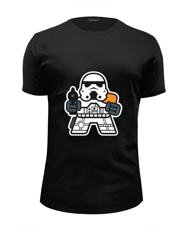printio футболка wearcraft premium slim fit принцесса лея звездные войны Printio Футболка Wearcraft Premium Slim Fit Штурмовик (звездные войны)
