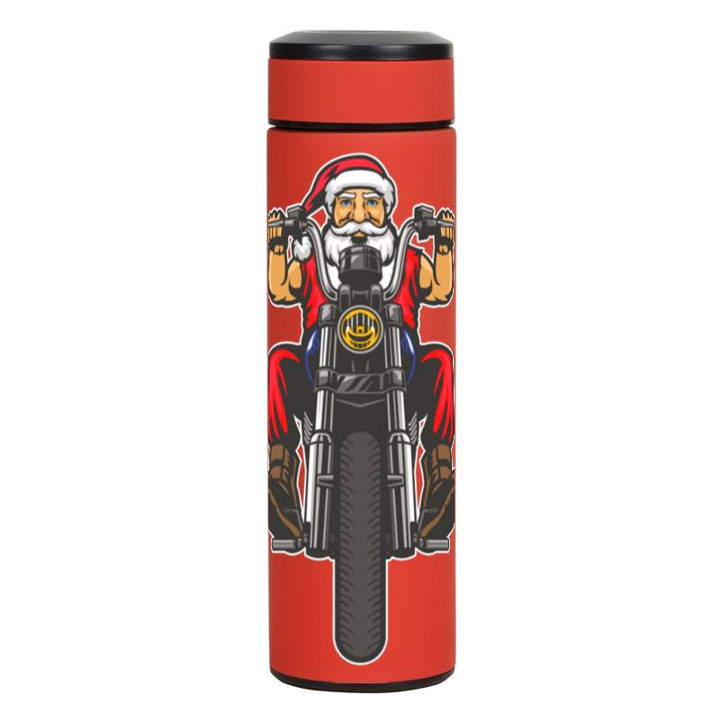 Printio Термос Santa moto