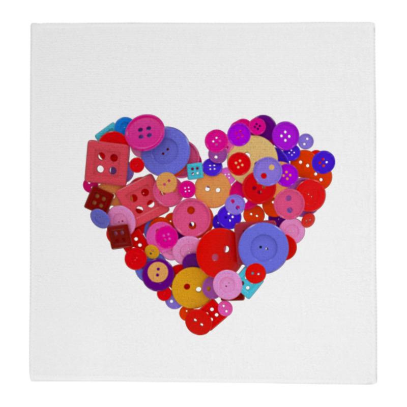 Фото - Printio Полотенце 30×30 см Сердечко scb271028 металлическая подвеска сердечко белая ножка 9 см сердечко 5 3 см scrapberry s