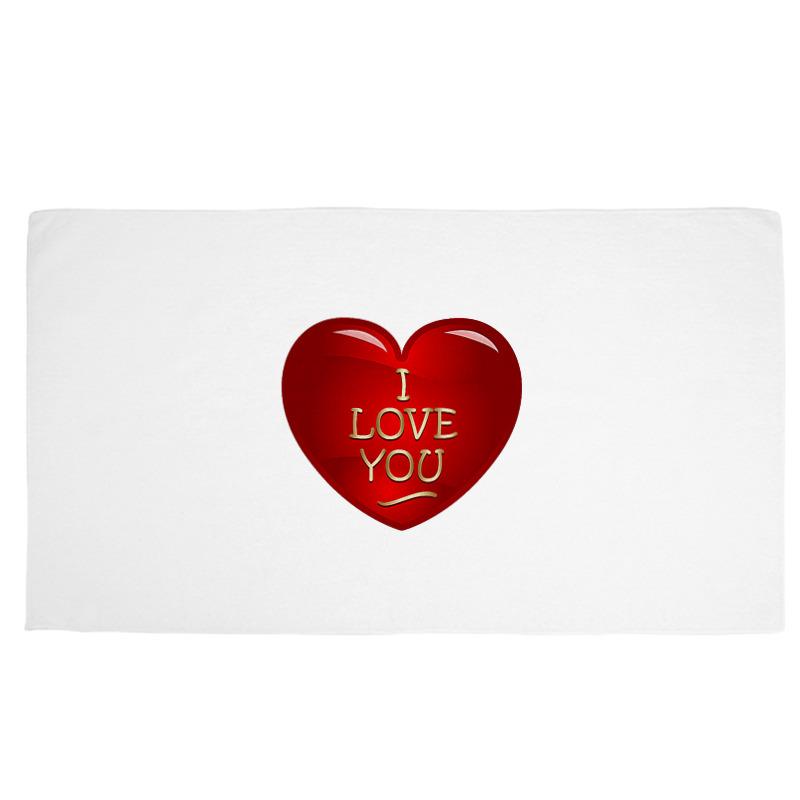 Фото - Printio Полотенце 50×90 см Сердечко scb271028 металлическая подвеска сердечко белая ножка 9 см сердечко 5 3 см scrapberry s