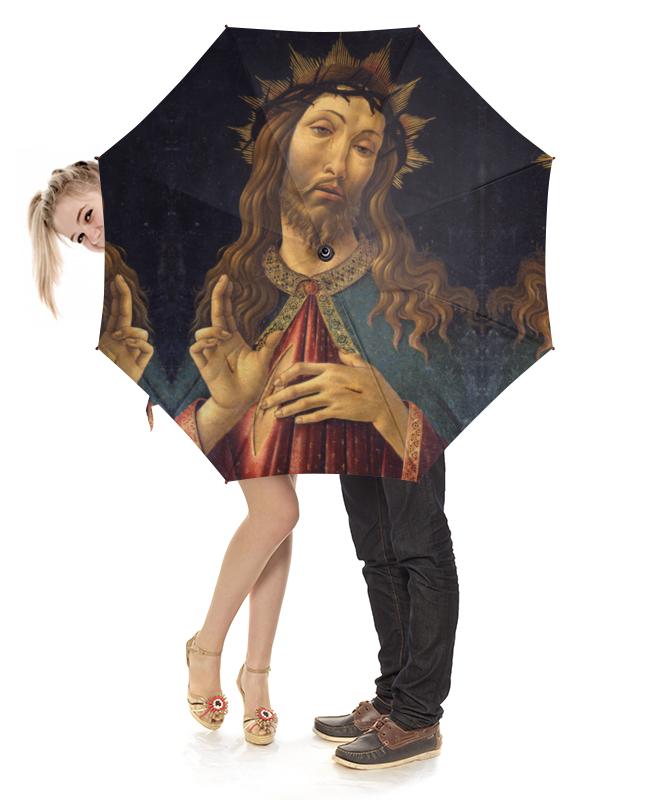 Printio Зонт-трость с деревянной ручкой Христос в терновом венце (боттичелли)