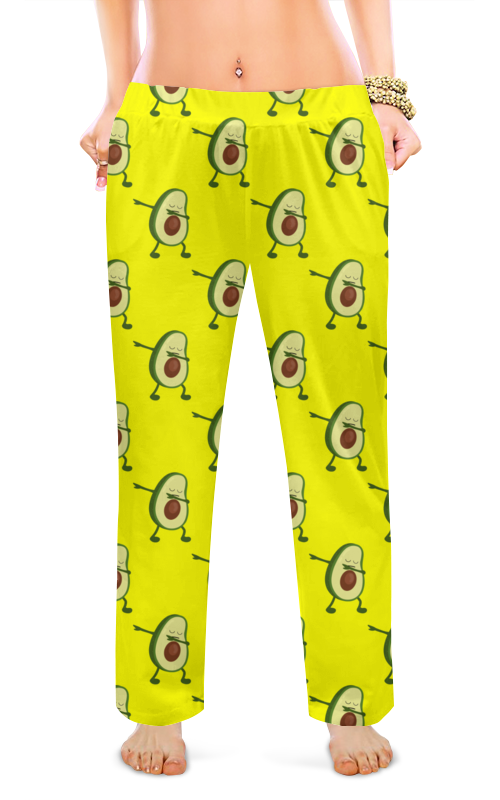 printio женские пижамные штаны молочный шоколад Printio Женские пижамные штаны Авокадо