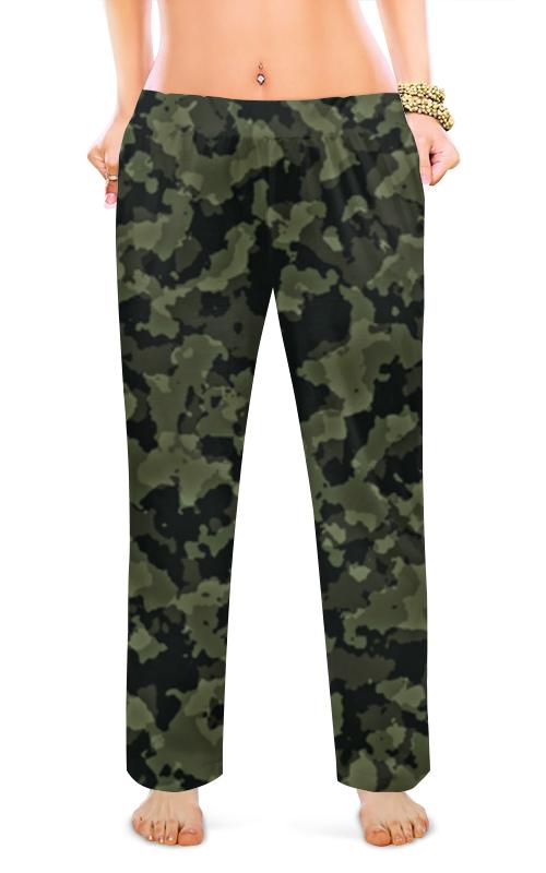 Printio Женские пижамные штаны Хаки милитари абстракция