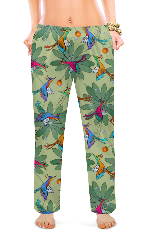 Printio Женские пижамные штаны Lovely birds