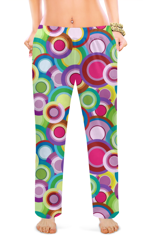 Printio Женские пижамные штаны Цветные круги