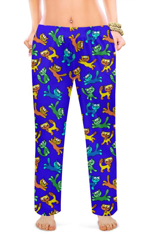 Printio Женские пижамные штаны Разноцветные коты