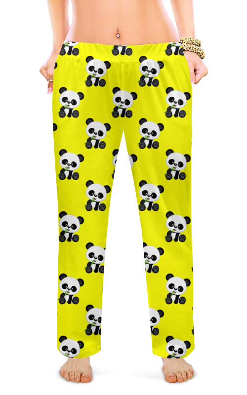 Printio Женские пижамные штаны Панды