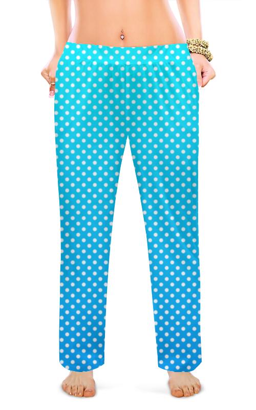 Printio Женские пижамные штаны Белые кружки