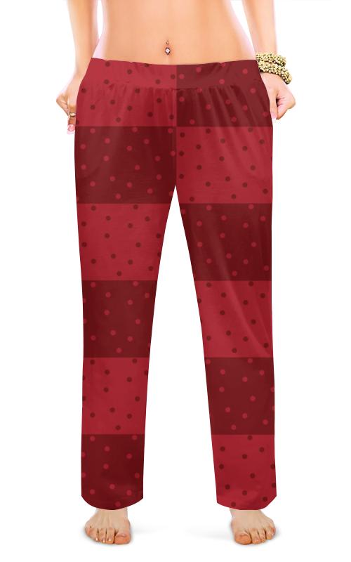 Printio Женские пижамные штаны Красный геометрический узор