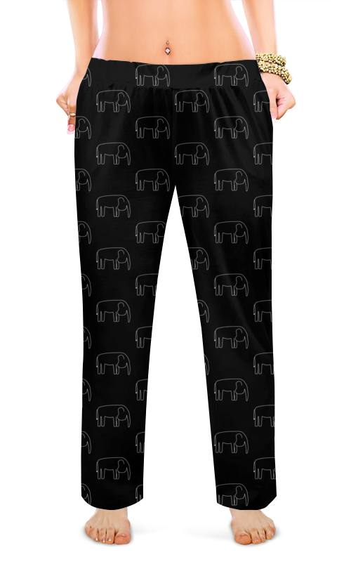 Printio Женские пижамные штаны Белый слон