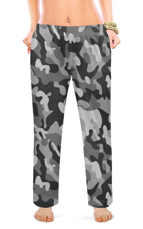 Printio Женские пижамные штаны Серый хаки