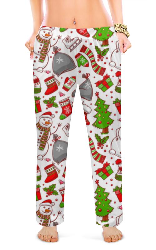 Printio Женские пижамные штаны Новогодний фон