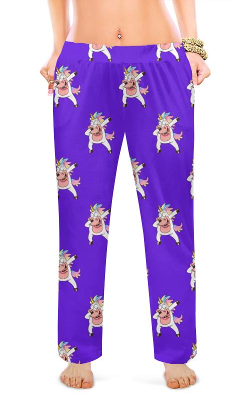 printio женские пижамные штаны молочный шоколад Printio Женские пижамные штаны Единороги