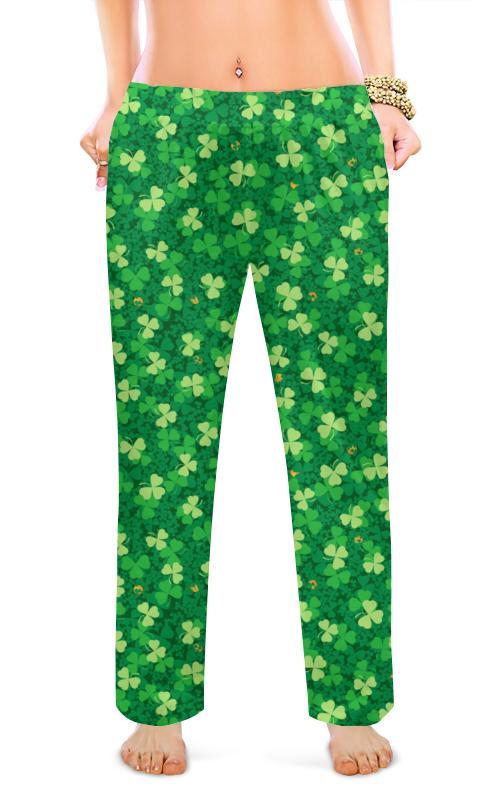 Printio Женские пижамные штаны Клеверная поляна