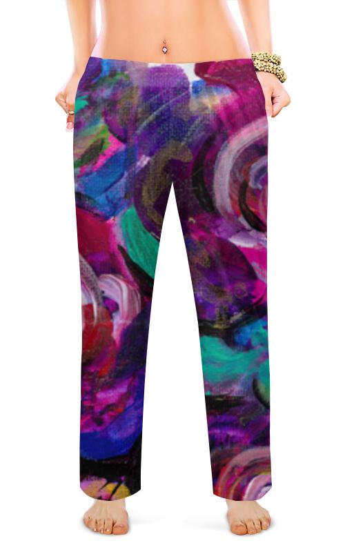 Printio Женские пижамные штаны Цветочная провокация