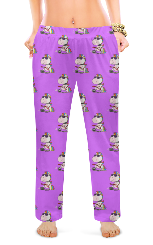 Printio Женские пижамные штаны Единороги