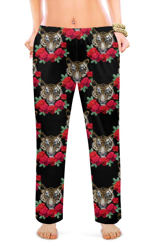 printio женские пижамные штаны молочный шоколад Printio Женские пижамные штаны Шикарные тигры
