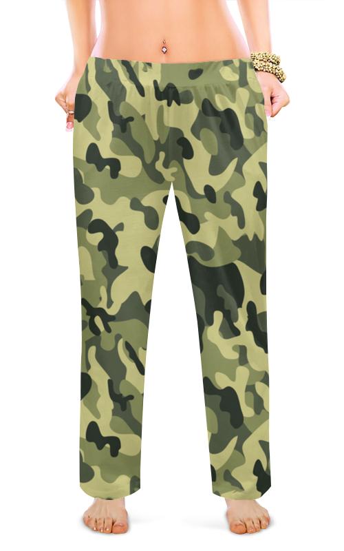 Printio Женские пижамные штаны Зеленый хаки