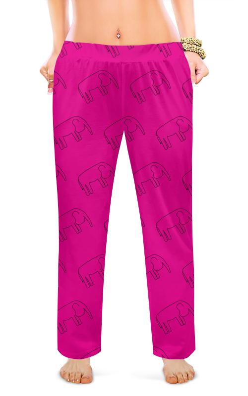 Printio Женские пижамные штаны Черный слон