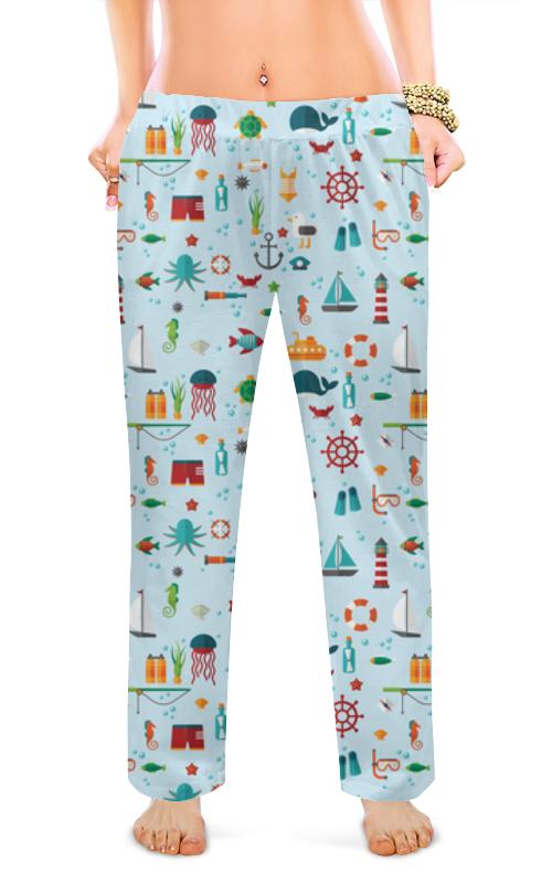 printio женские пижамные штаны молочный шоколад Printio Женские пижамные штаны Морская