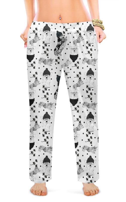 Printio Женские пижамные штаны Черное и белое