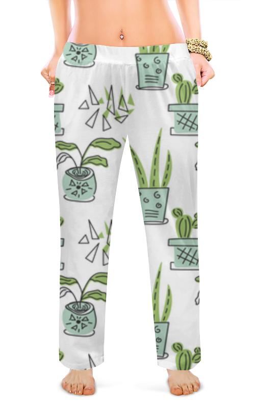 Printio Женские пижамные штаны Комнатные растения, кактусы