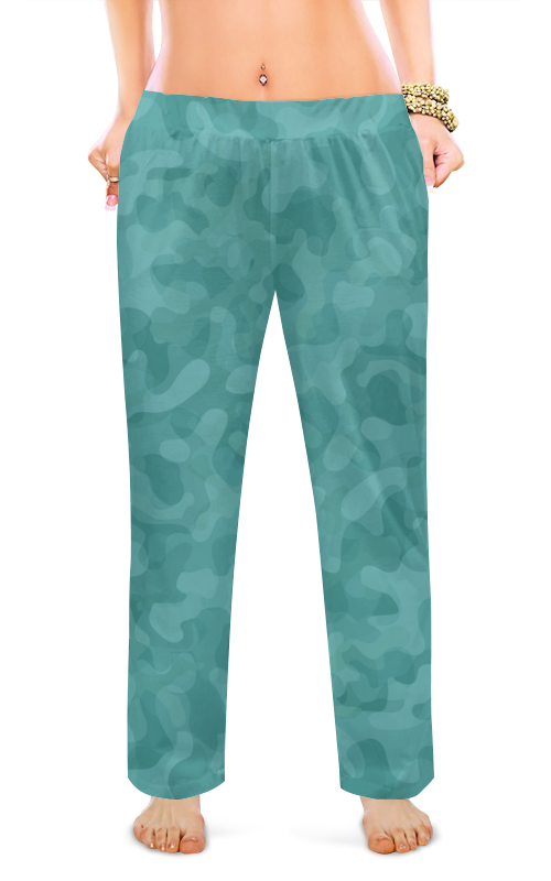 Printio Женские пижамные штаны Мятный камуфляж.
