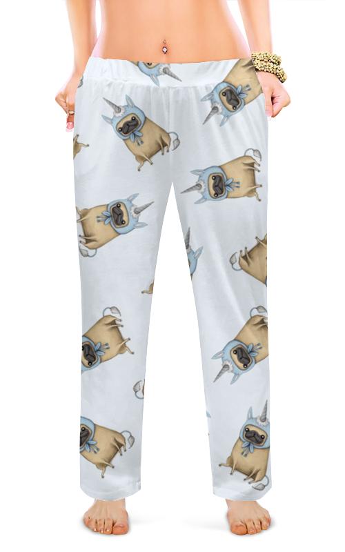 Printio Женские пижамные штаны Мопс единорог