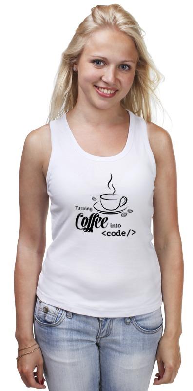 Printio Майка классическая Кофе и код