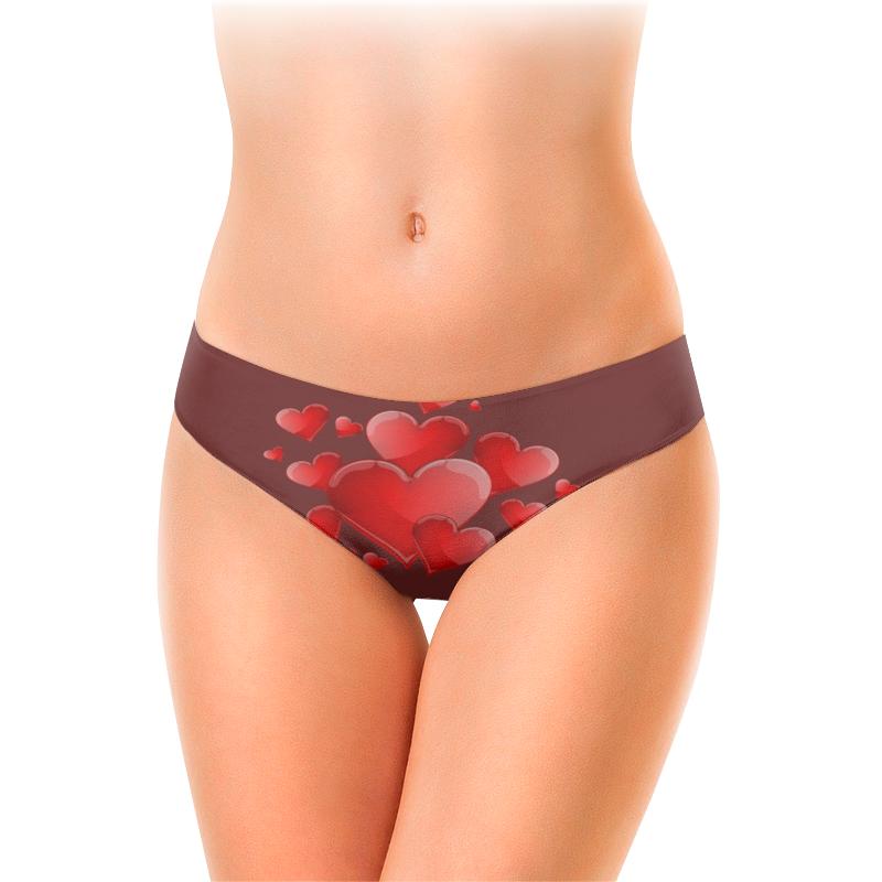 Printio Женские трусы-слипы Красные в шоколаде.