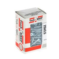 Изображение Саморезы универсальные  25х3,5 мм (200 шт)  оцинкованные - коробка с ок.