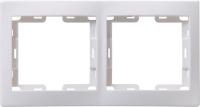 Изображение EMK21-K01-DM   Рамка 2 поста вертикальная белый Кварта