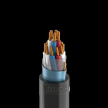 Изображение Кабель контрольный 14х1.5 кв.мм медный 0,66 кВ с ПВХ изоляцией негорючий с низким дымо- и газовыделением экранированный, в холодостойком исполнении