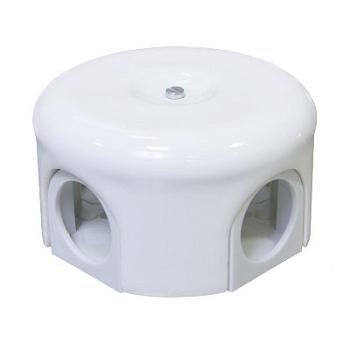 Коробка распределительная d90mm белый Lindas