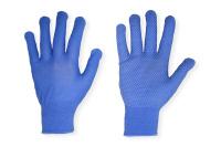 Перчатки нейлоновые с ПВХ микроточка голубые