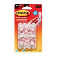 Удаляемый крючок COMMAND 17006 для ключей (6 крючков/ 8 полосок)