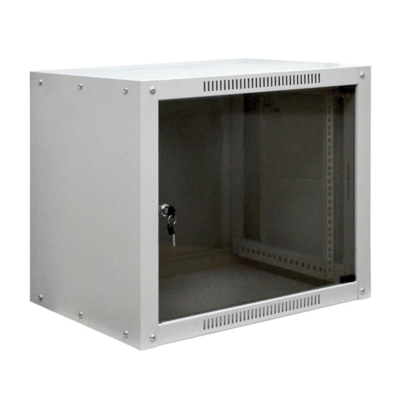 """19"""" Напольный шкаф PROCONNECT 42U 800х800 мм, передняя дверь стекло, задняя дверь металлическая сплошная, регулируемые опоры, боковые стенки не съемны"""