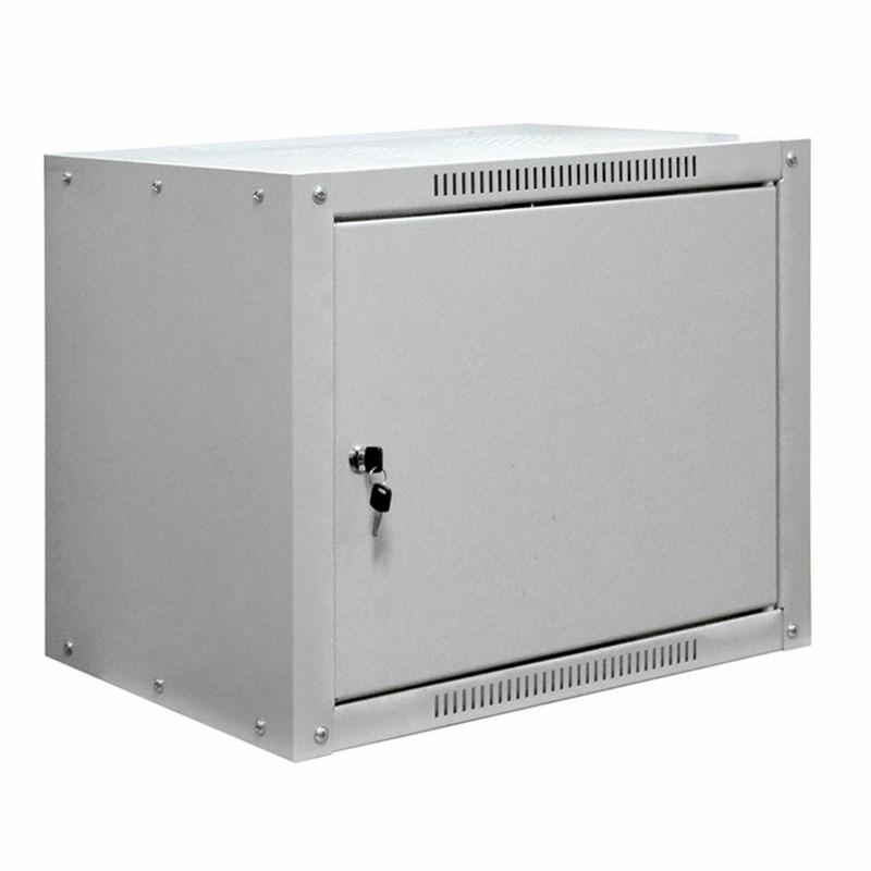 """19"""" Настенный шкаф Proconnect 9U 600×450×500 (ШxГxВ) - передняя дверь металл, боковые стенки не съемные (разобранный) RAL 7035"""
