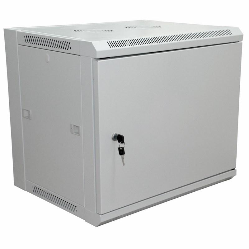 """19"""" Настенный шкаф RexantPRO 6U 600×450×370 мм (ШxГxВ) - передняя дверь металл, боковые стенки съемные (разобранный), RAL 7035"""