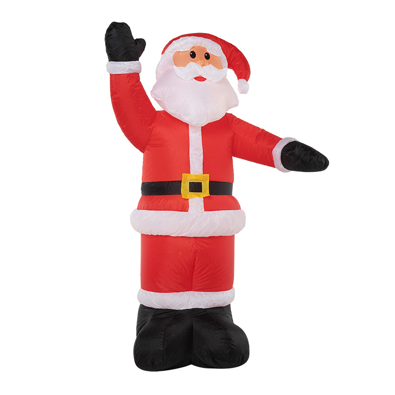 """3D фигура надувная """"Дед Мороз приветствует"""", размер 150 см, внутренняя подсветка 4 LED, компрессор с адаптером 12В, IP 65  NEON-NIGHT"""