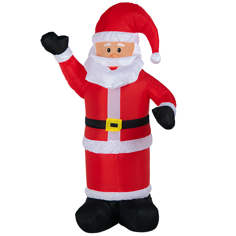 """3D фигура надувная """"Дед Мороз приветствует"""", размер 180 см, внутренняя подсветка 5 LED, компрессор с адаптером 12В, IP 65  NEON-NIGHT"""